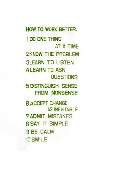 How to Work Better Artists Peter Fischli and David Weiss