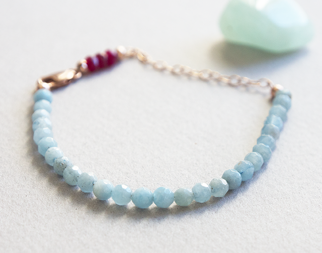 Elastic Mind Crafted | Aquamarine & Ruby