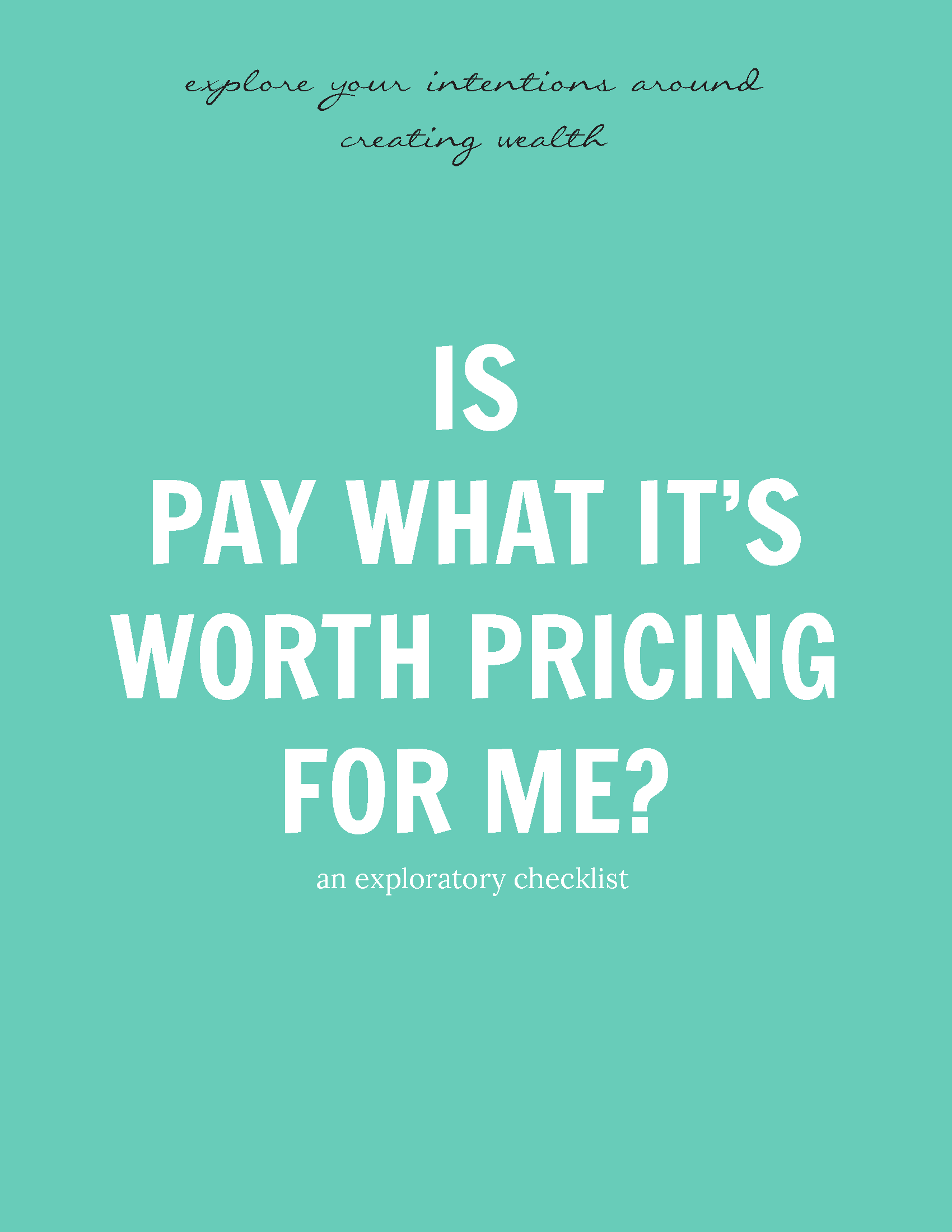 is pay what it s worth pricing for me an exploratory